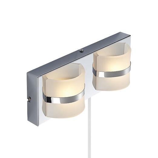 Vägglampa Denver dubbel LED-0