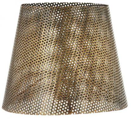 Mia hålad lampskärm Antik mässing 20cm-0