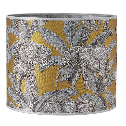 Lampskärm Sara mönstrad Elefant 30 cm-0