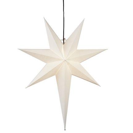 Adventsstjärna papper vit-0