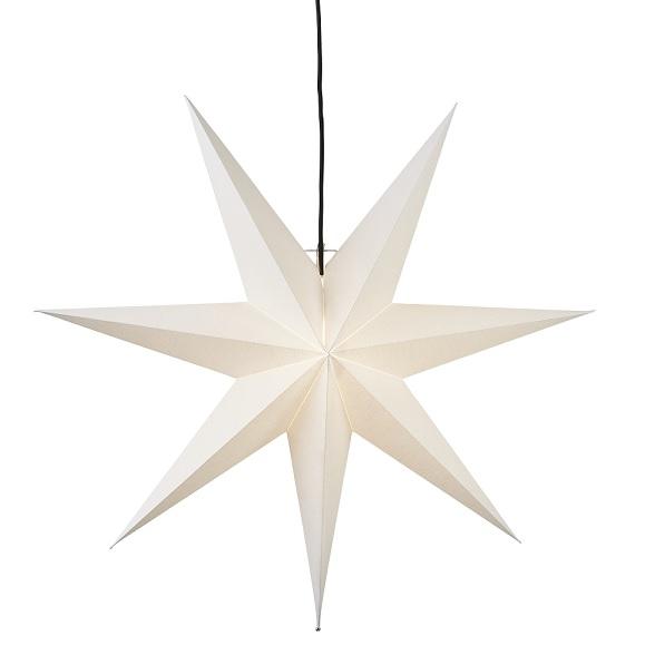 Adventsstjärna papper vit 70 cm-0
