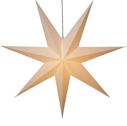 Adventsstjärna papper vit 140 cm-0