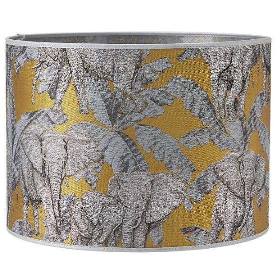 Lampskärm Sara mönstrad elefant 35 cm-0