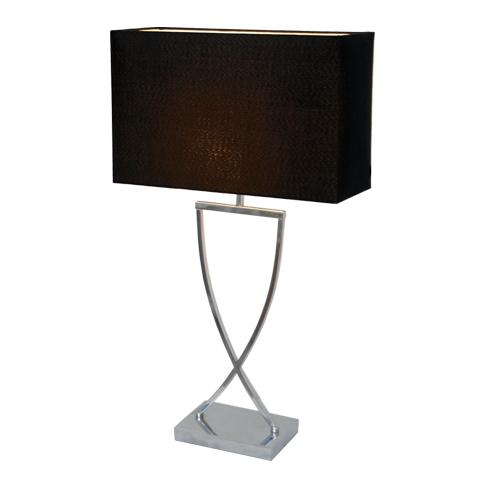 Omega bordslampa h52cm krom/svart-0
