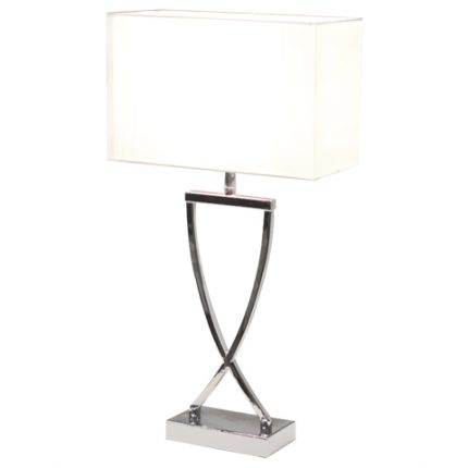 Omega bordslampa mpa h52cm krom/vit-0
