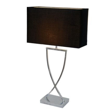 Omega bordslampa h69cm krom/svart-0