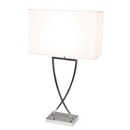 Omega bordslampa h69cm krom/vit-0