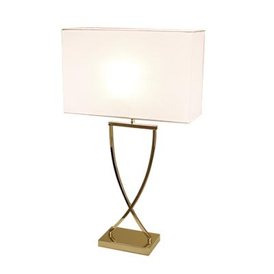 Omega bordslampa h52cm mässing/vit-0