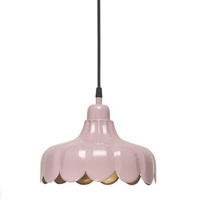 Fönsterlampa Wells rosa 24 cm-0