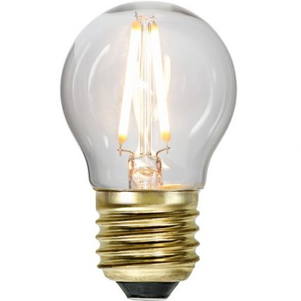 Ledlampa klot E27 1,4w 80lm dimbar-0