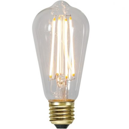 Ledlampa (Edison) E27 4w 300lm klar dimbar-0