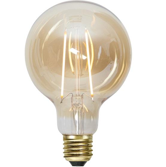 Ledlampa 95mm amber E27 1 w 70lm-0