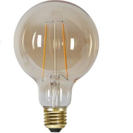 Ledlampa 95mm amber E27 1 w 70lm-14921