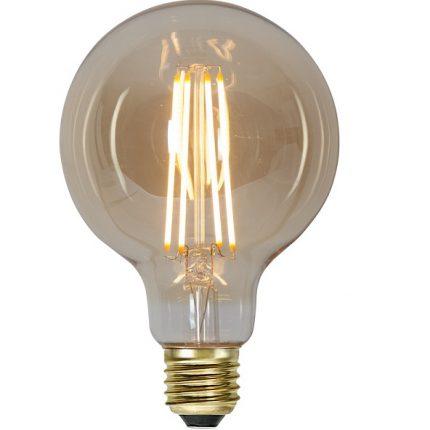 Ledlampa 95mm amber E27 3,6 w 300lm dimbar-0