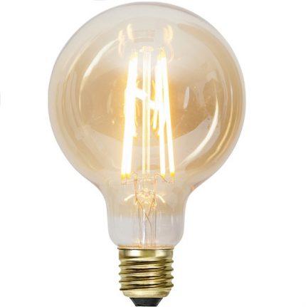 Ledlampa 95mm amber E27 7,5 w 700lm dimbar-0