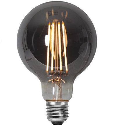 Ledlampa 95mm rök E27 LED 7,5 w 250lm dimbar-0