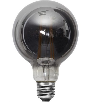 Ledlampa 95mm rök E27 LED 7,5 w 250lm dimbar-14930