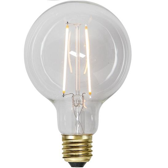 Ledlampa 95mm klar E27 LED 1 w 70lm-0