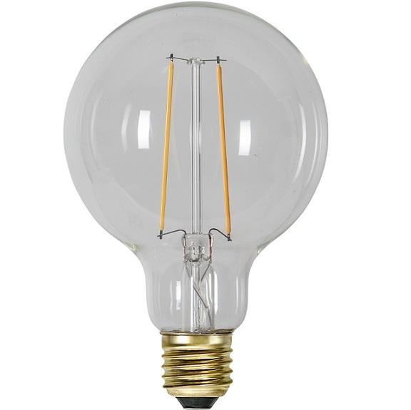Ledlampa 95mm klar E27 LED 1 w 70lm-14932