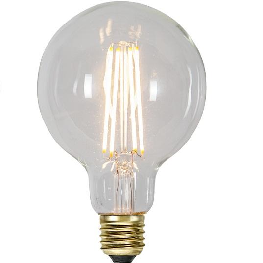 Ledlampa 95mm klar E27 3,6 w 300lm dimbar-0