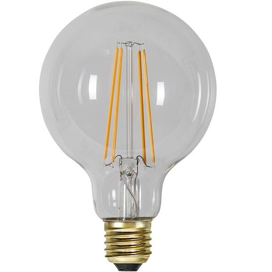 Ledlampa 95mm klar E27 6,5w 700lm dimbar-14937