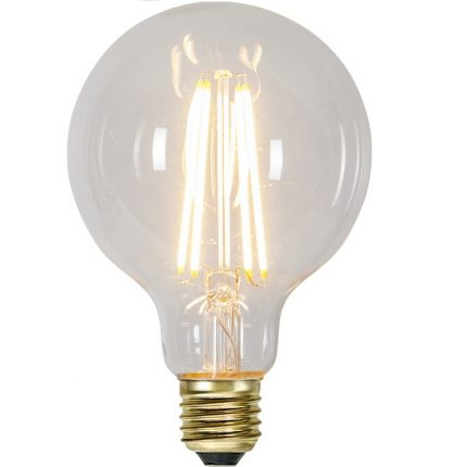 Ledlampa 95mm klar E27 6,5w 700lm dimbar-0