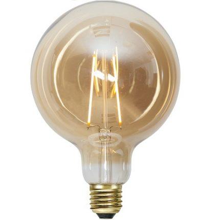 Ledlampa 125mm amber E27 1 w 70lm -0