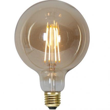 Ledlampa 125mm amber E27 3,6 w 300lm dimbar-0