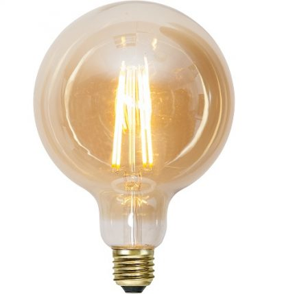 Ledlampa 125mm amber E27 7,5 w 700lm dimbar-0