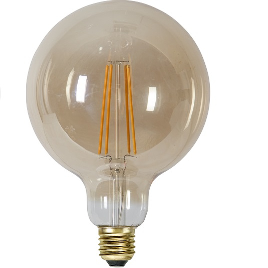 Ledlampa 125mm amber E27 7,5 w 700lm dimbar-14942