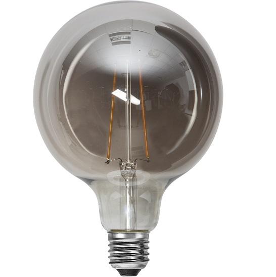 Ledlampa 125mm rök E27 1 w 40lm-14944