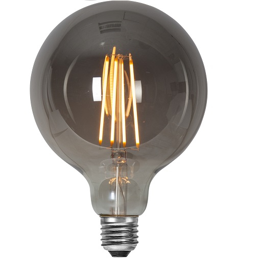 Ledlampa 125mm rök E27 3,6w 120lm dimbar-0