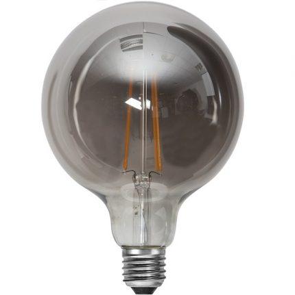 Ledlampa 125mm rök E27 7,5 w 250lm dimbar-14949