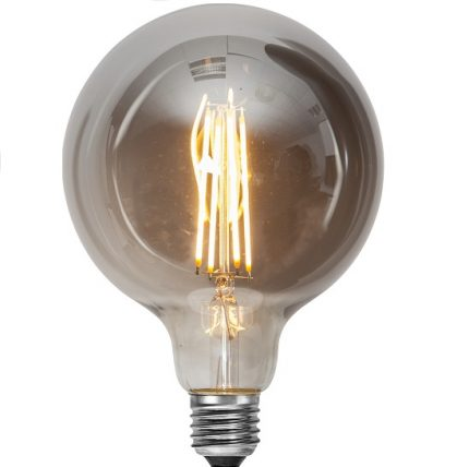 Ledlampa 125mm rök E27 7,5 w 250lm dimbar-0