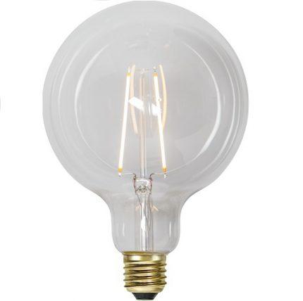 Ledlampa 125mm klar E27 1 w 70lm -0