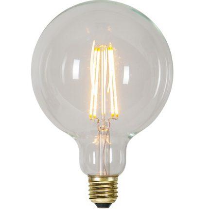 Ledlampa 125mm klar E27 3,6 w 300lm dimbar-0