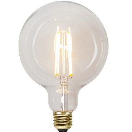 Ledlampa 125mm klar E27 6,5 w 700lm dimbar-0