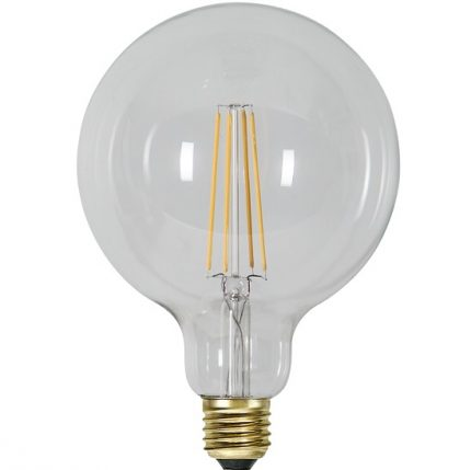 Ledlampa 125mm klar E27 6,5 w 700lm dimbar-14954
