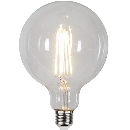 Ledlampa 125mm klar E27 6,5 w 806lm dimbar-0