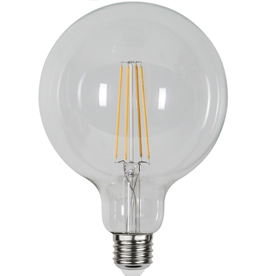 Ledlampa 125mm klar E27 6,5 w 806lm dimbar-14957