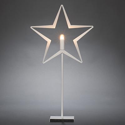 Bordsstjärna metall vit-0