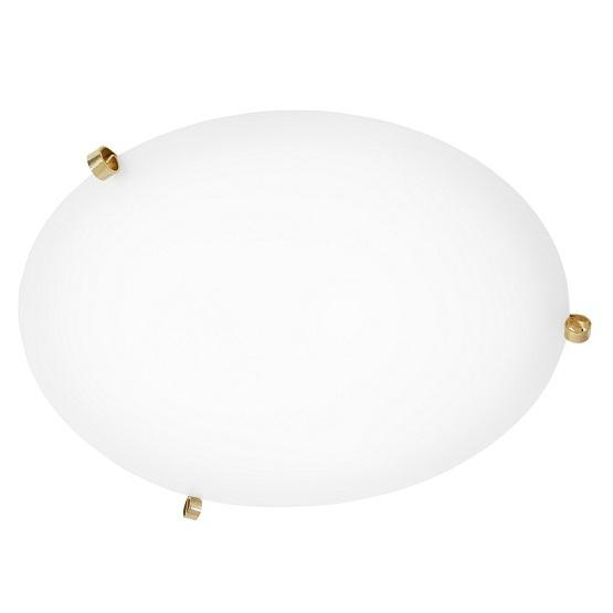 Plafond Ögla mässing vit 45 cm-0
