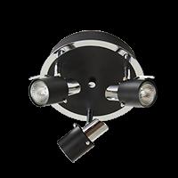 ZINGO 3 Rund LED SVART-0