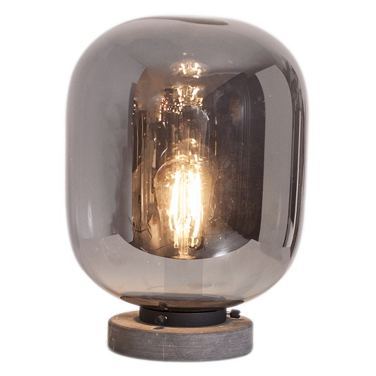 Bordslampa Leola rökgrå-0