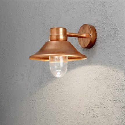 Vägglykta Vega LED koppar-12432
