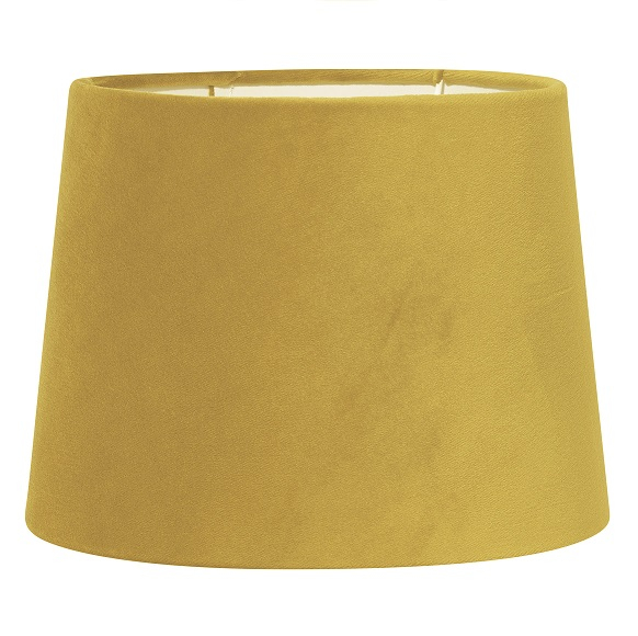 Lampskärm Sofia sammet gul 20 cm-0