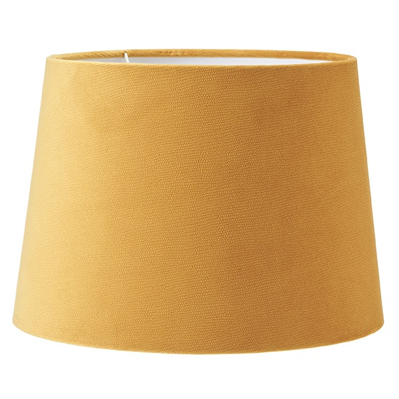 Lampskärm Sofia sammet studio gul 20 cm-0
