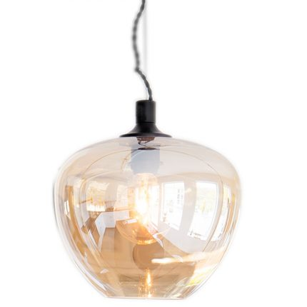 Taklampa Bellissimo 28cm Amber-0