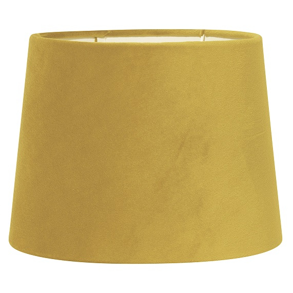 Lampskärm Sofia sammet gul 25 cm-0