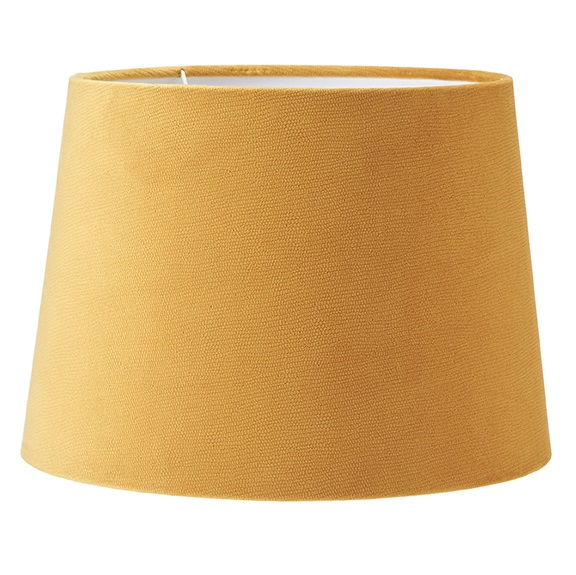 Lampskärm Sofia sammet Studio gul 25 cm-0